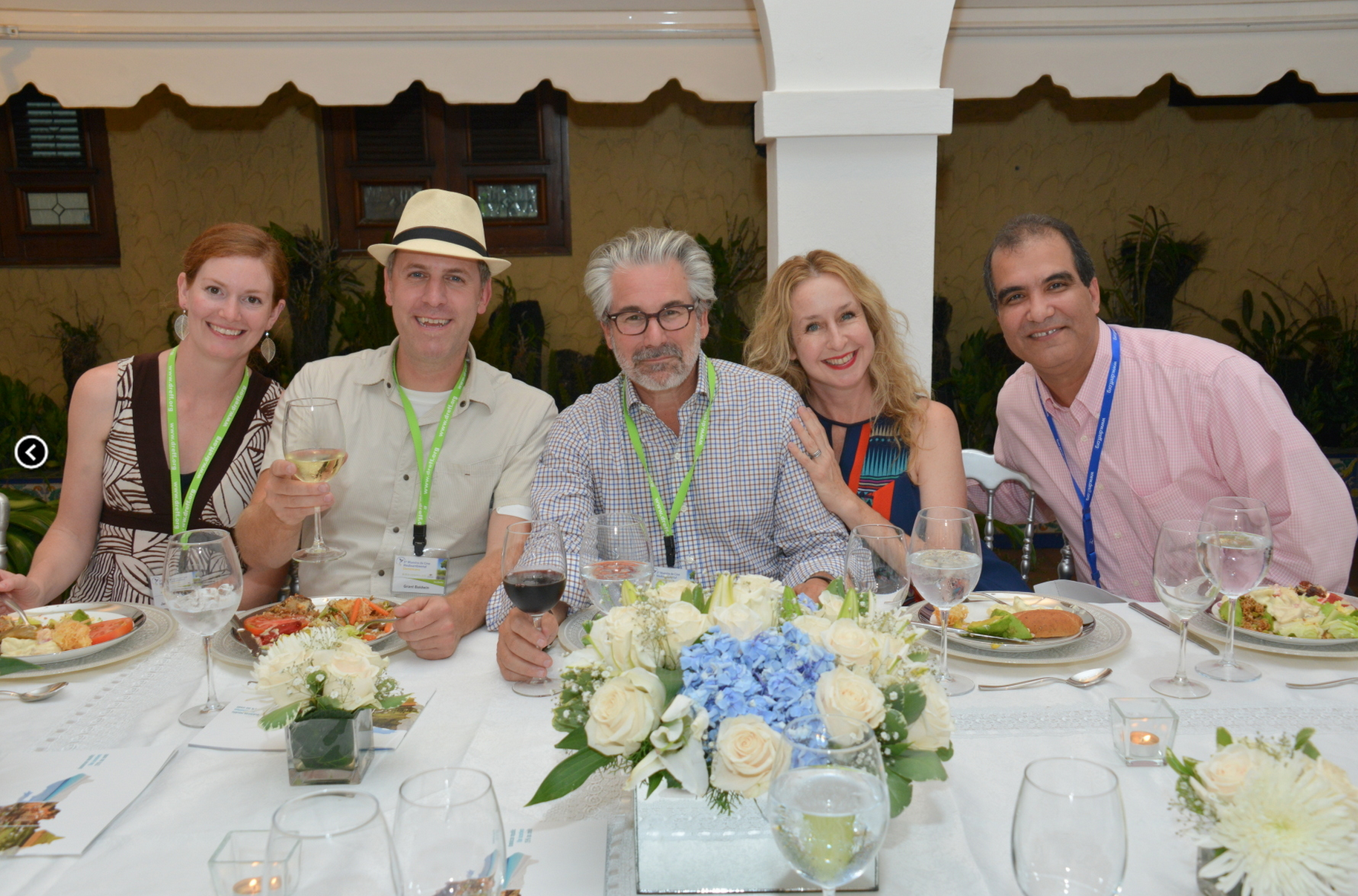 Dinner at the Dominican Republic Film Commission.
