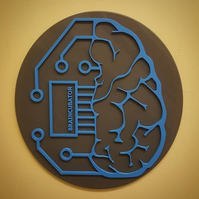 Braincubator Logo 3D Print  Iteration is key!  #diy #3dmodeling #3dprinting #makeithappen #stem