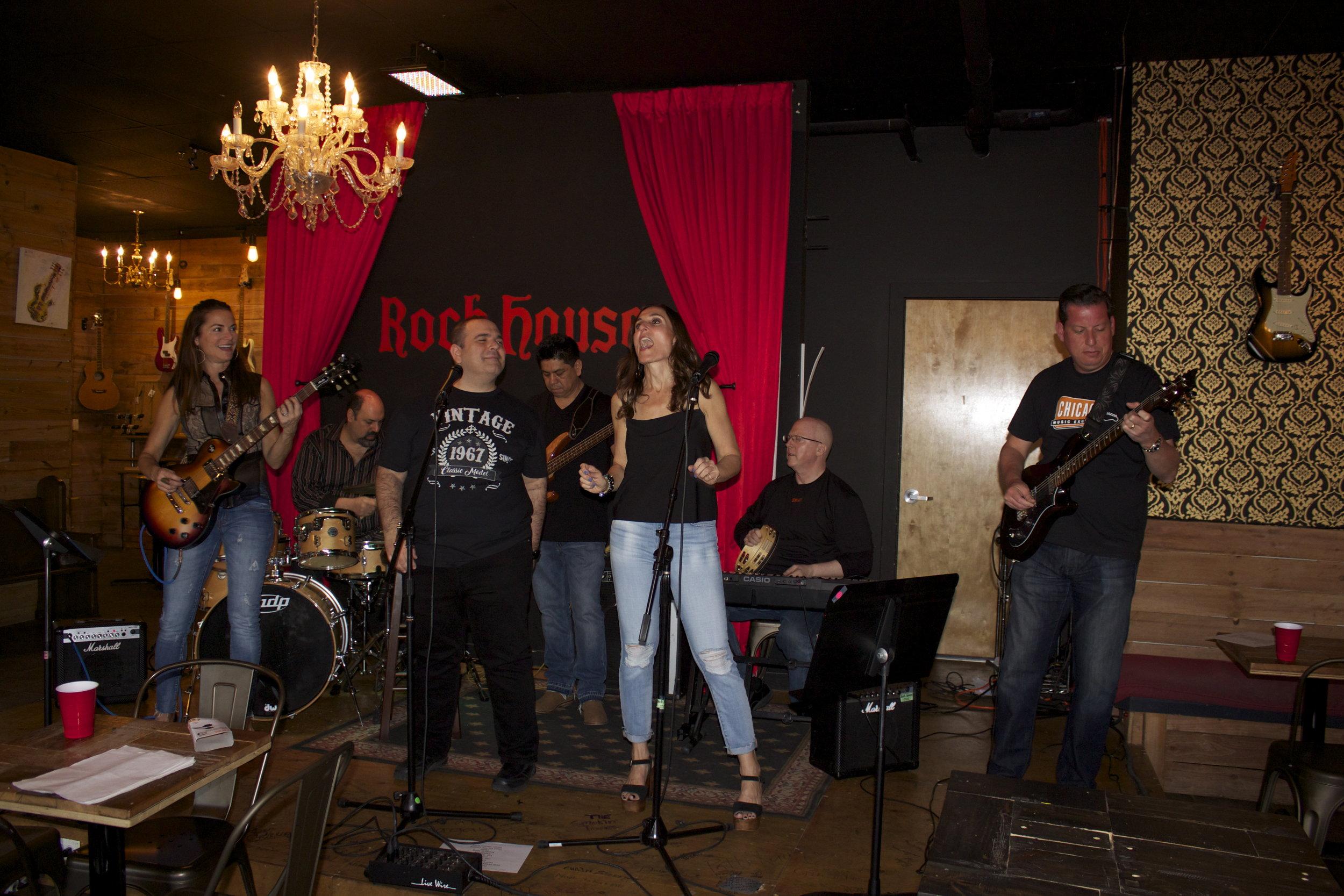 No Shame performing at a gig!