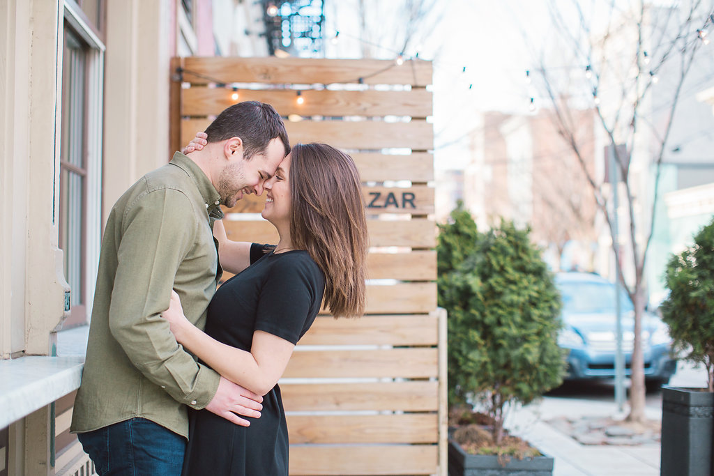 over-the-rhine engagement session