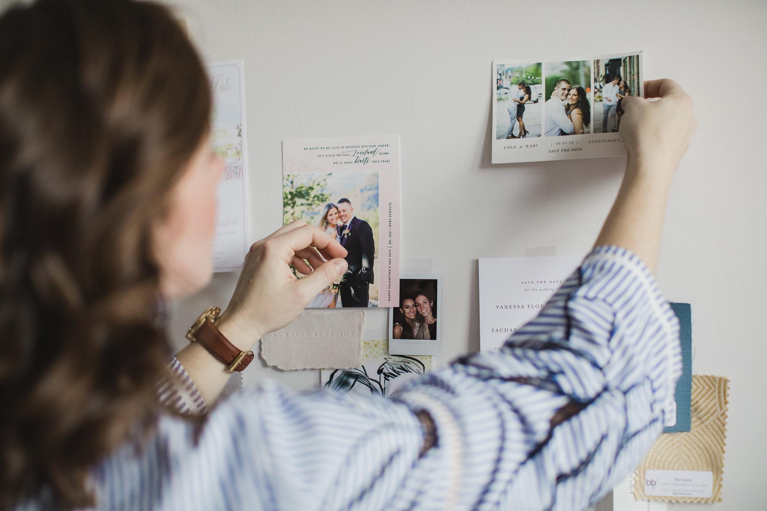 Samantha-Joy-Events-office-designer-collage-wall-dayton-ohio