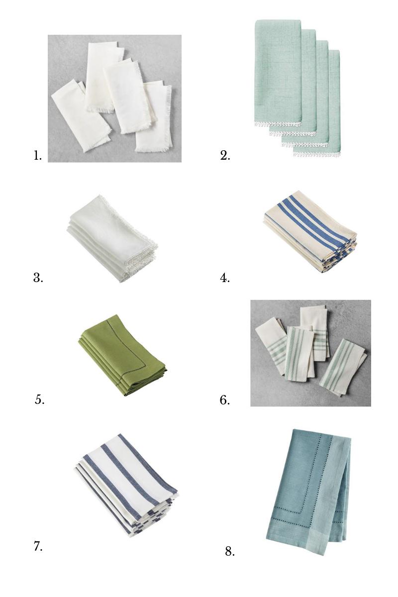 wedding registry best linen napkins