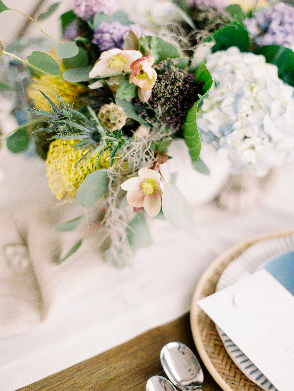 floral centerpiece sherwood florist seaside inspired beach table design dayton event planner wedding
