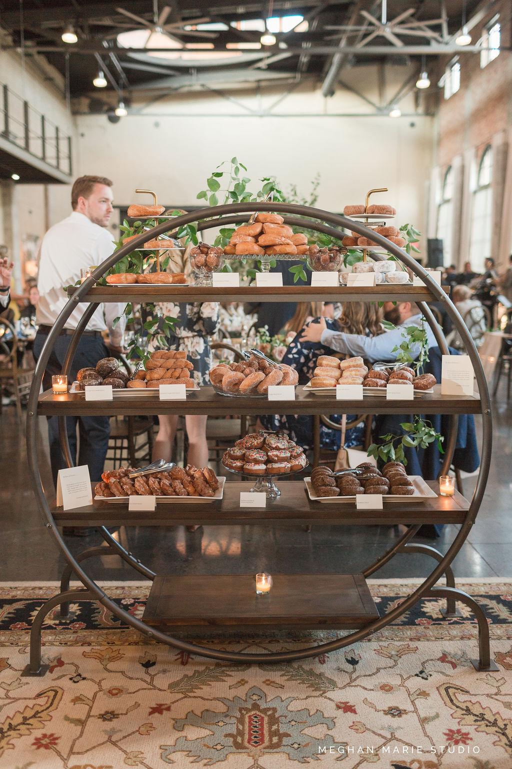 steam plant wedding, dayton wedding photographer, donut wall