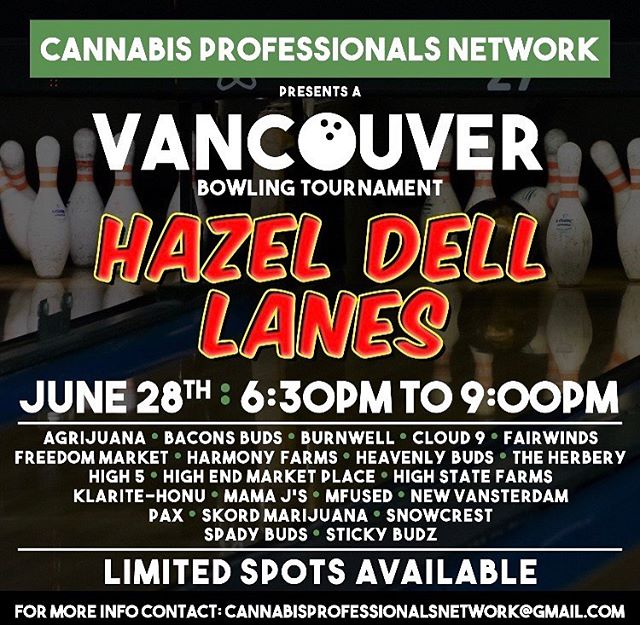 We live in fortunate and fun times! Can't wait to do this! Might be a couple spots left for i502 to totally fill up the joint. Email on flyer. #LegalizeIt #Legalize  @cannabisprofessionalsnetwork #420 #710 #SWED #21+ #MMJ #Legit #i502 #growers #retailers #bowlers #legal #cannabis #weed #herb #ganja #cannabiscommunity