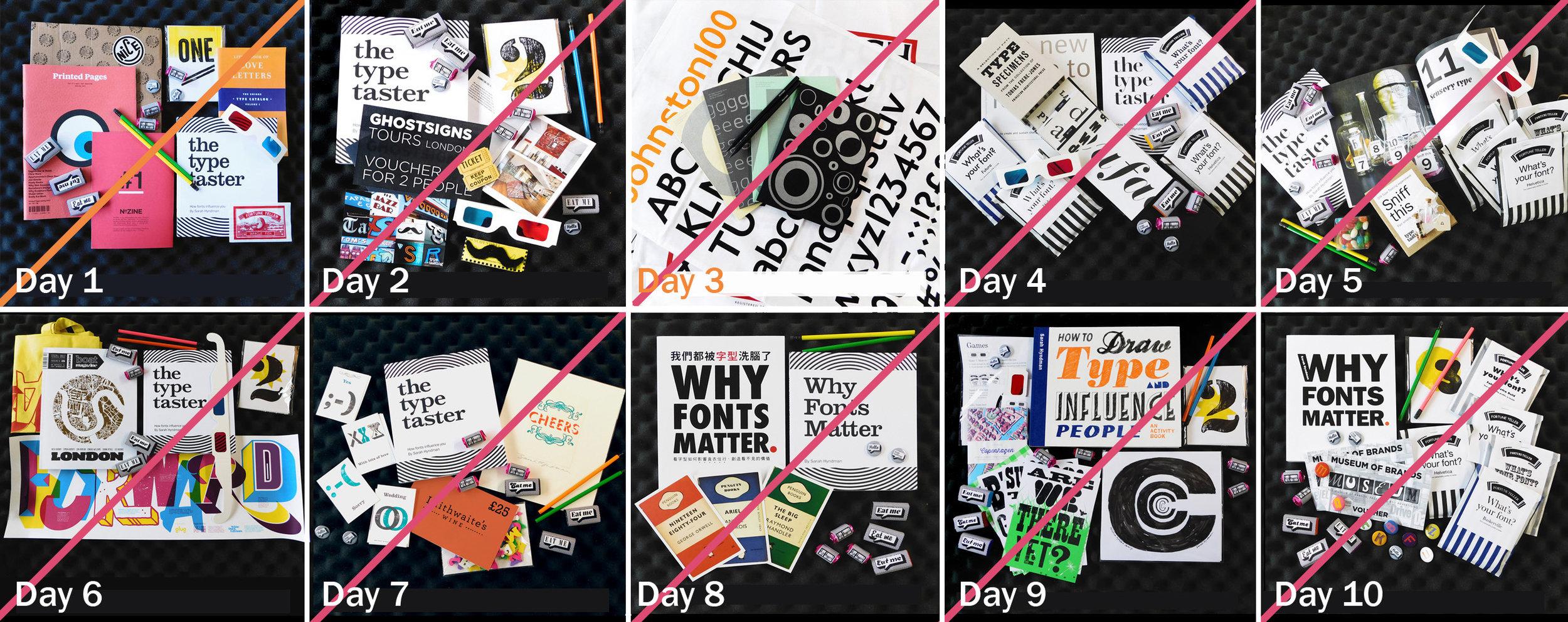 Ten days of Type Tasting prizes