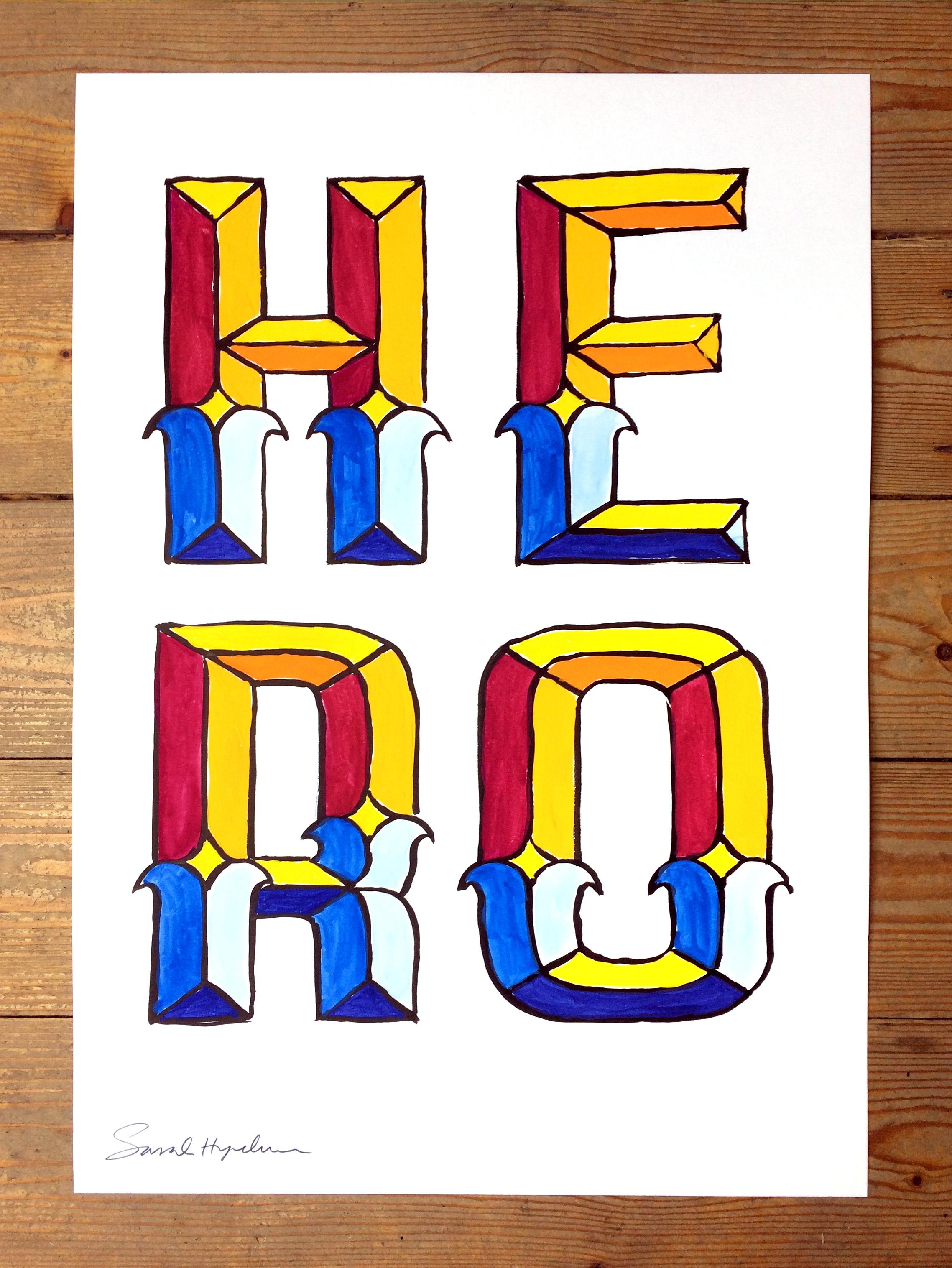 Hero - painting by Sarah Hyndman