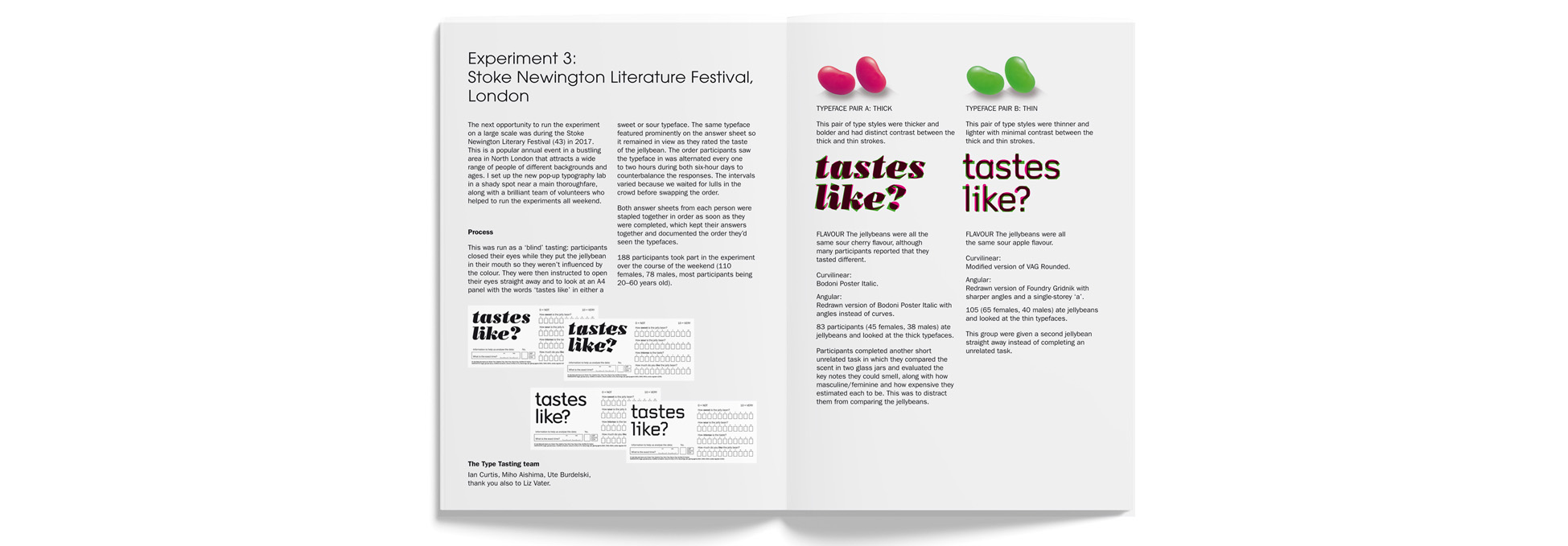 Type Tasting Books - The Typographic Taste Changing Sweet & Sour Jellybean Experiment