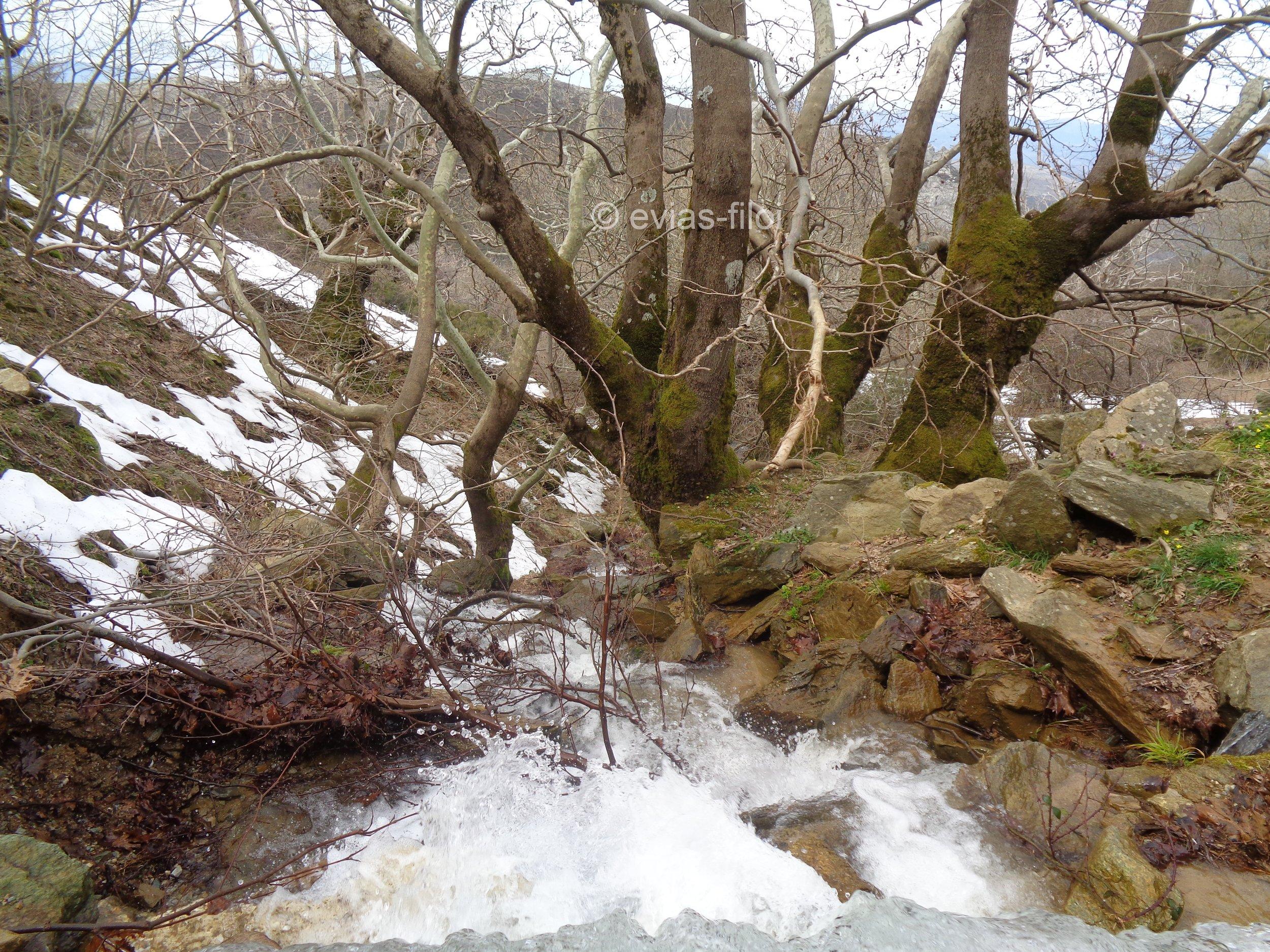 Τα χιόνια λιώνουν και η δύναμη του νερού αυξάνεται