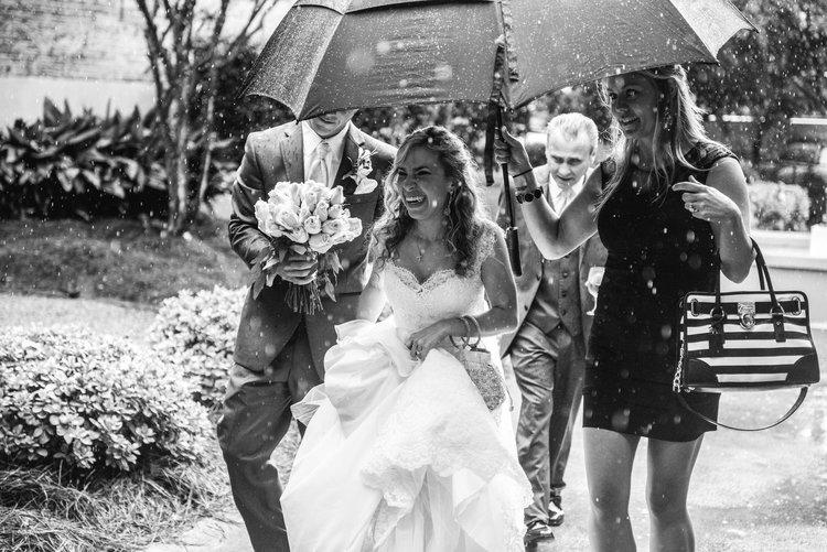 Rain on Wedding Day at the BlackSmith Shop Macon Georgia