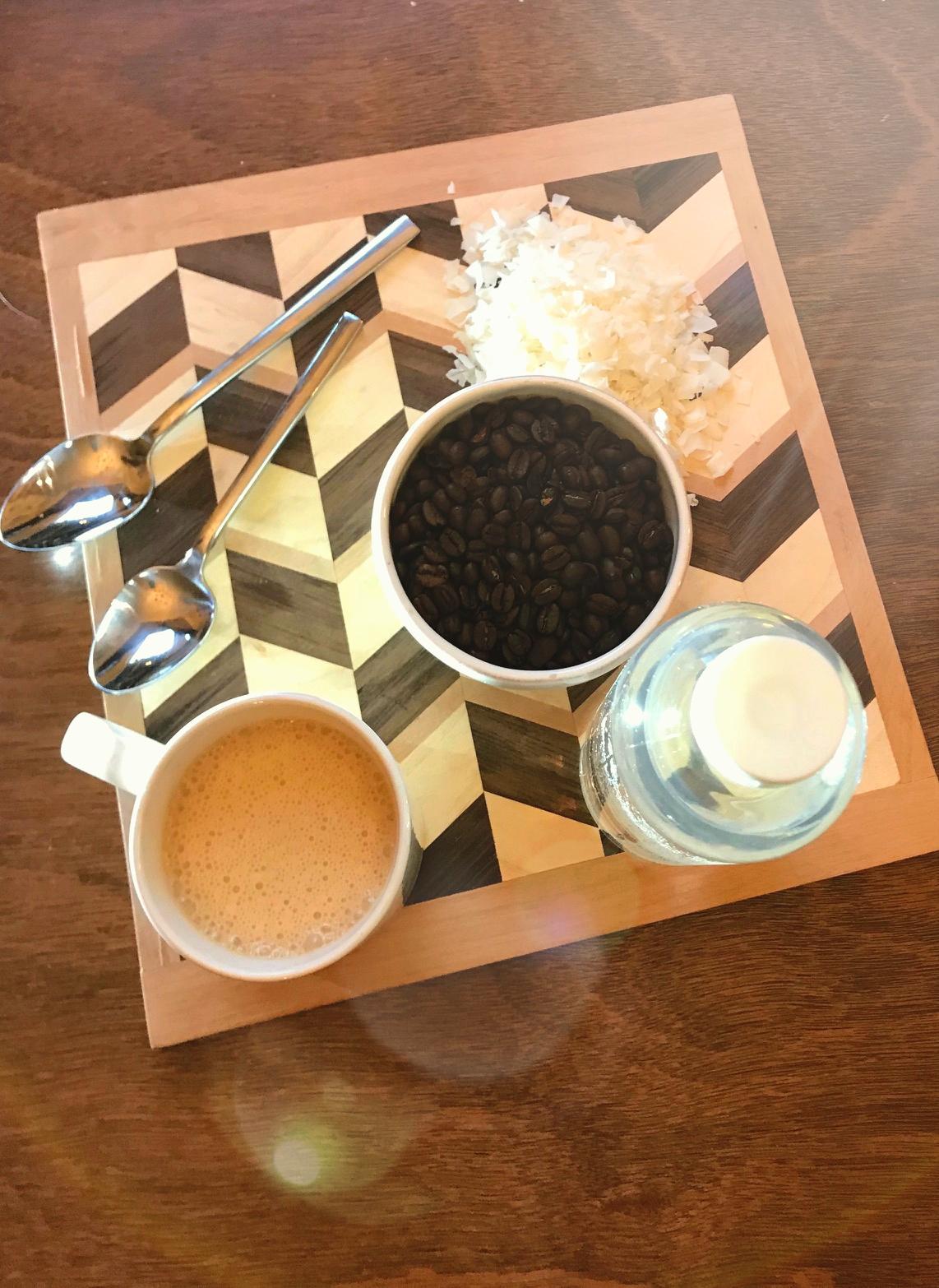 Blending MCT oil into the morning coffee - I feel lighter already...