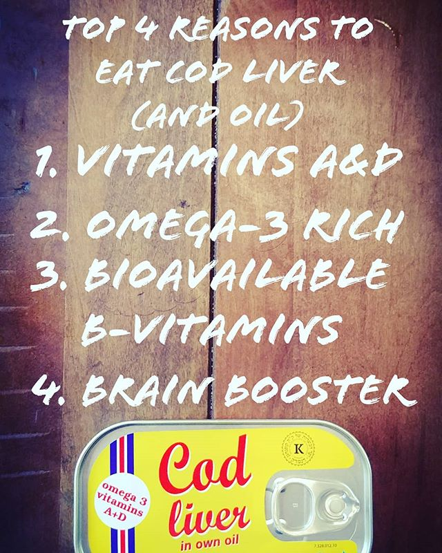 Why should you use #codliveroil ? 1. It is an excellent source of fat soluble #vitamins A&D. 2. It has more #omega3 per serving than almost anything else! 3. The whole liver contains #bvitamins you can absorb easily. 4. The high omega content means it's a natural #brainbooster  These canned cod livers taste delicious if you like salty fish and we highly recommend them! #codliver #nutrientdense #nutritioninfo #health #healthyliving #supplements #supplementscience #foodismedicine #vitamind #vitamina #fishoil #fishoilomega3 #hequals #theherbalequivalent #healthpodcast #foodforthought #biohacking #nootropics #brainhealth #hearthealthyfood #ketofriendly