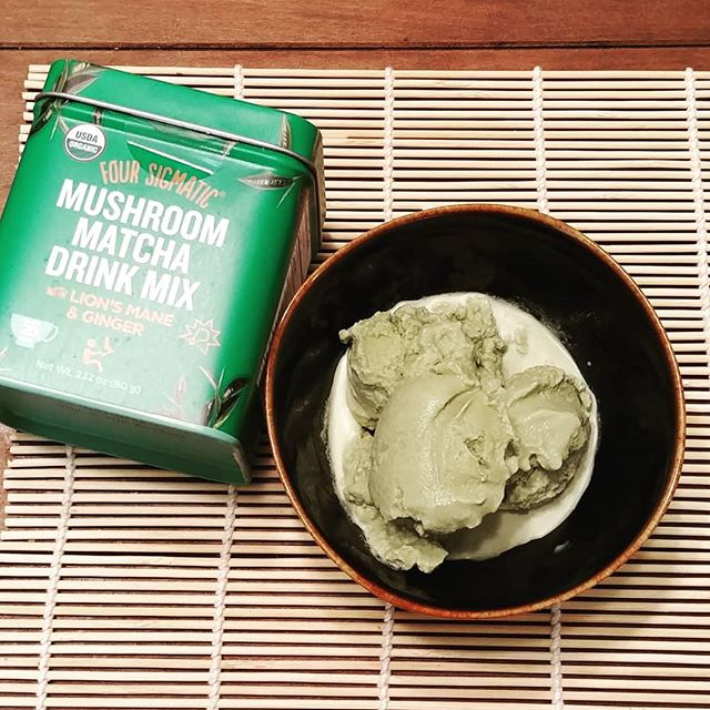Want a #keto way to enjoy @foursigmatic Lions mane matcha? Try our keto matcha ice cream recipe! Ingredients:  16oz raw cream (sub coconut if dairy intolerant) 4 oz coconut milk 2-3 TBS Lions mane matcha Stevia to taste  Whisk ingredients together before putting into an ice cream maker and viola! Be sure to use our coupon code: hequals at Four sigmatic.com to get 10% off!  #matcha #greentea #greenteaicecream #matchaicecream #foursigmatic #lionsmane #lionsmanemushroom #medicinalmushrooms #mushrooms #onshrooms #herbalmedicine #cognition #nootropics #theherbalequivalent #ketogenicdiet #highfatlowcarb #egcg #dessert #icecream #recipes