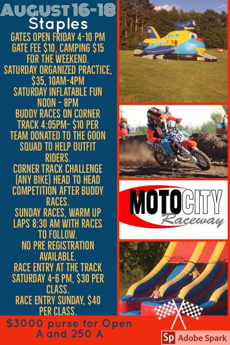 D23 Motocross Featured Event Staples, MN August 17th & 18th