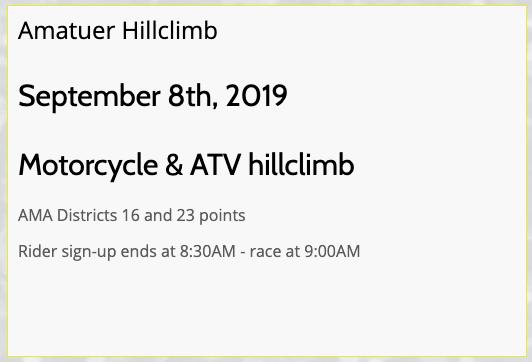 http://www.valleyspringshillclimb.com/events/