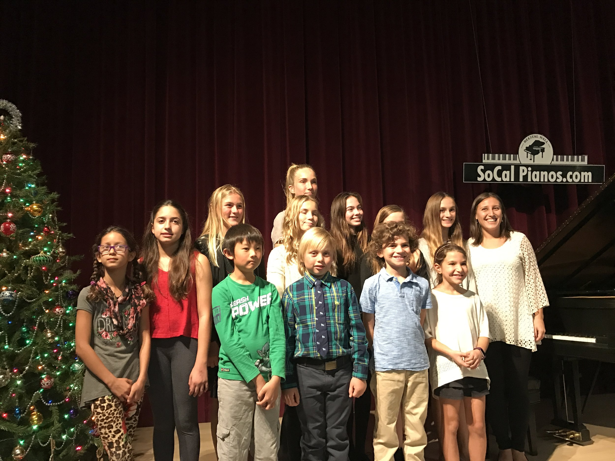 Winter Recital 2016 at SoCal Pianos