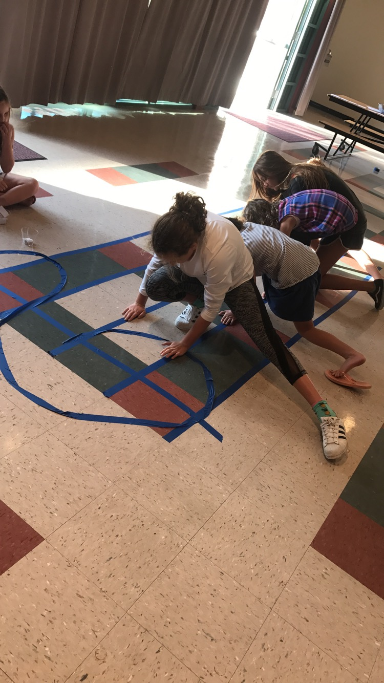 Playing Treble Clef Twister at a Music Workshop