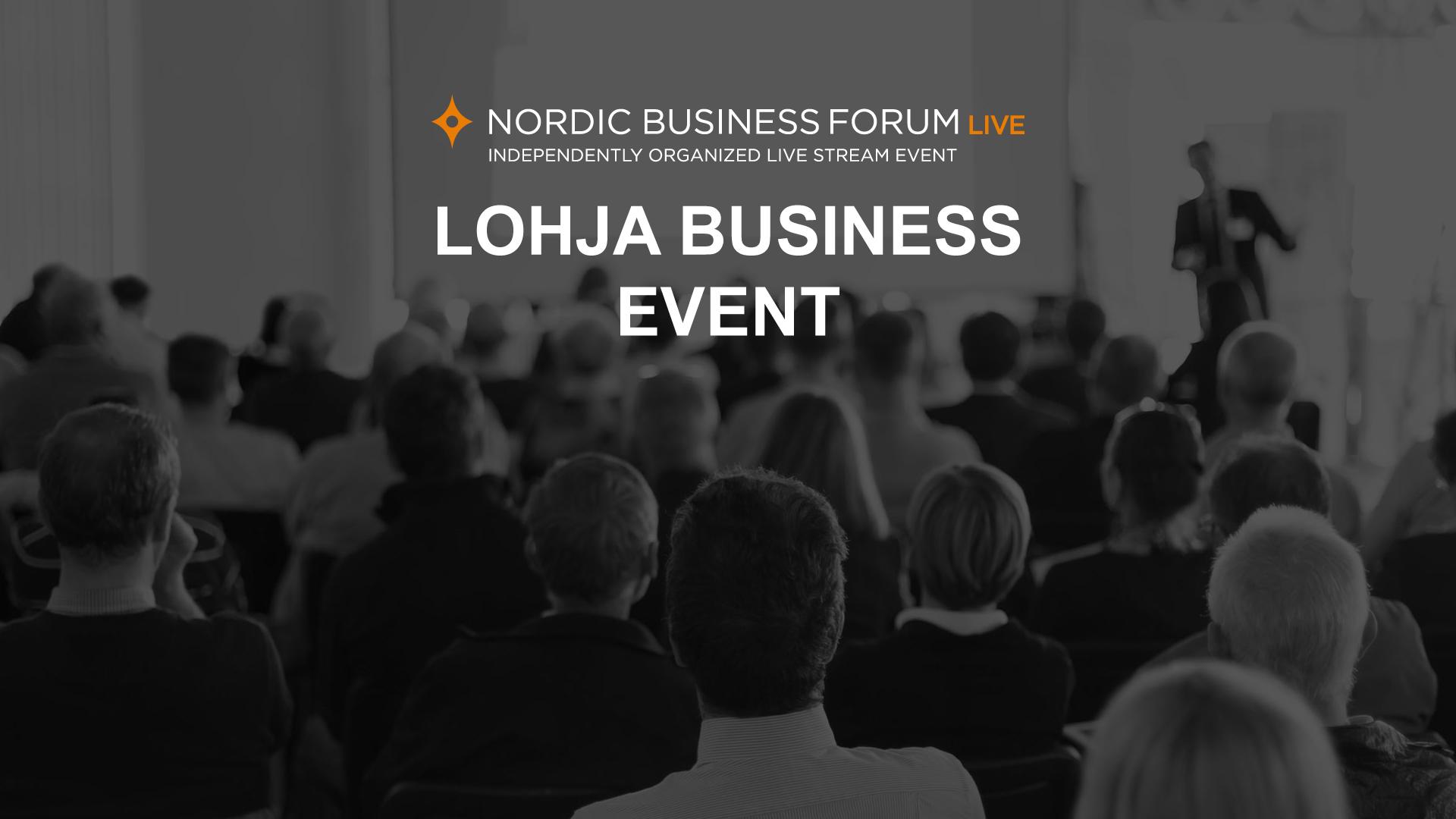 Lohja Business Event - Lohja Business Event on Innocello ry:n järjestämä suoratoistotapahtuma Nordic Business Forum -yrityskonferenssista Lohjan Puu−Anttilassa.Osallistujilla on mahdollisuus seurata tapahtuman kansainvälisiä esiintyjiä, inspiroitua sekä verkostoitua muiden paikallisten yritysten kanssa.Järjestelyihin sekä ohjelmaan lisätään paikallinen vivahde, kun mukana on esityksiä paikallisilta menestyviltä kasvuyrityksiltä, tapahtuman teeman mukaisesti.Tapahtumassa on suoratoistoyhteys Nordic Business Forumin kansainvälisiin luentoihin, jossa pääpuhujana on George Clooney. Nordic Business Forumin ohjelma on englanninkielinen, muutoin Lohja Business Event on suomenkielinen.