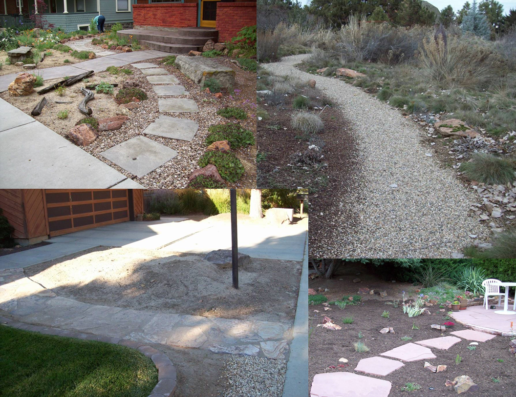 Pathways - Pathways come in many styles. They can be formal or informal and made from gravel or stepping stones.