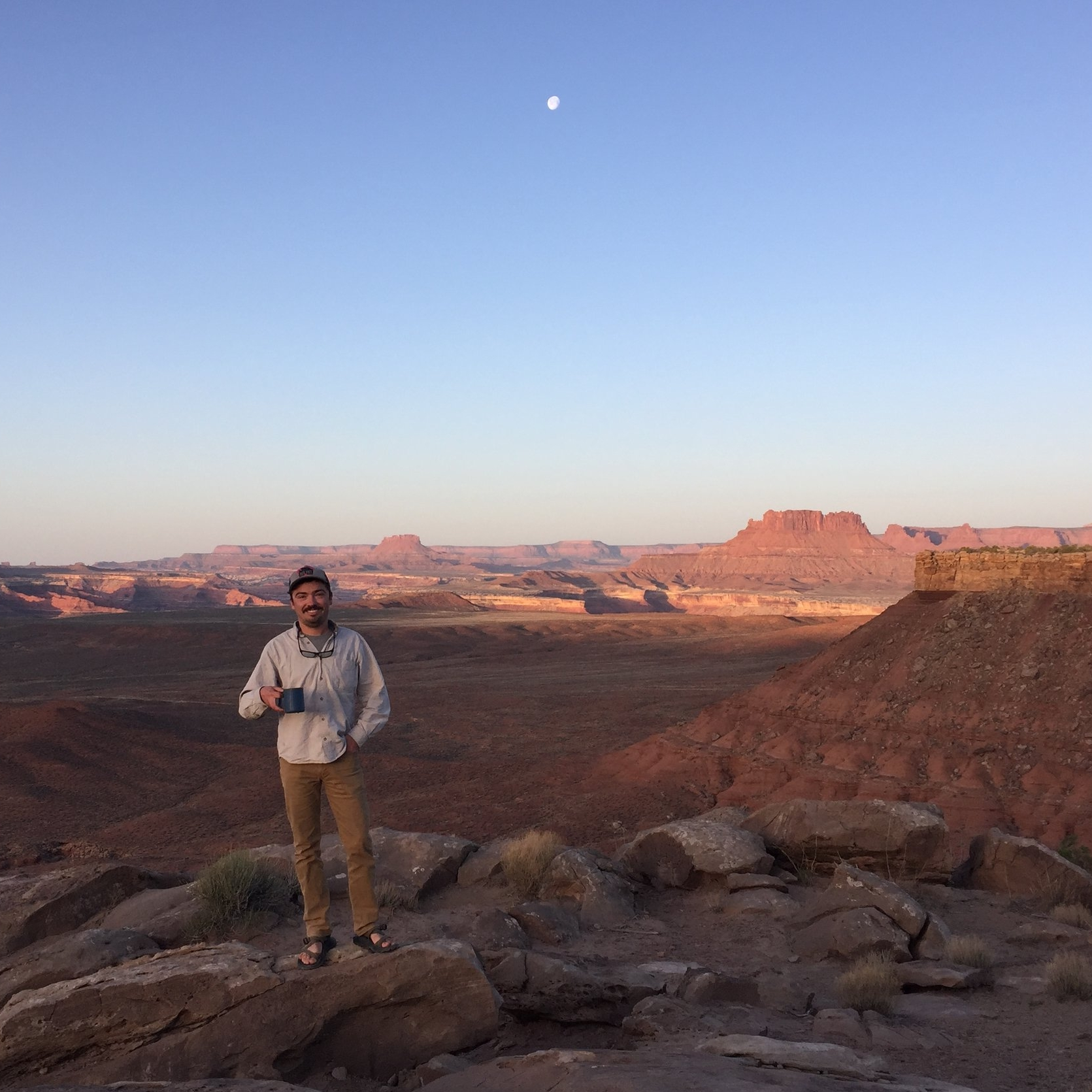Morning coffee near Moab, UT