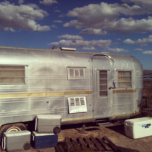 Home sweet home at the Amargosa Desert Research Site, NV.