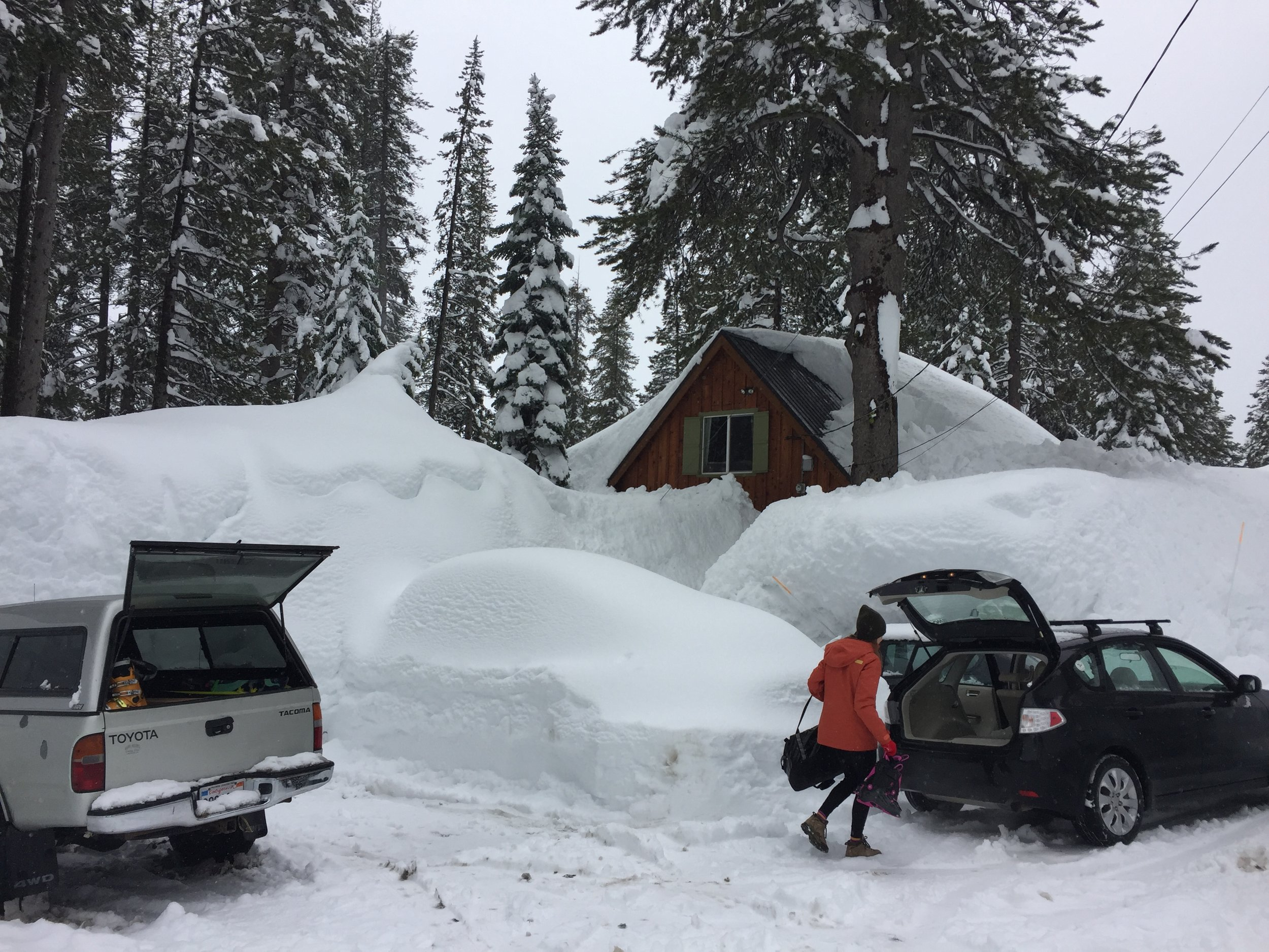March 2, 2019 — The first story of the house is completely buried … as is the car in the foreground.