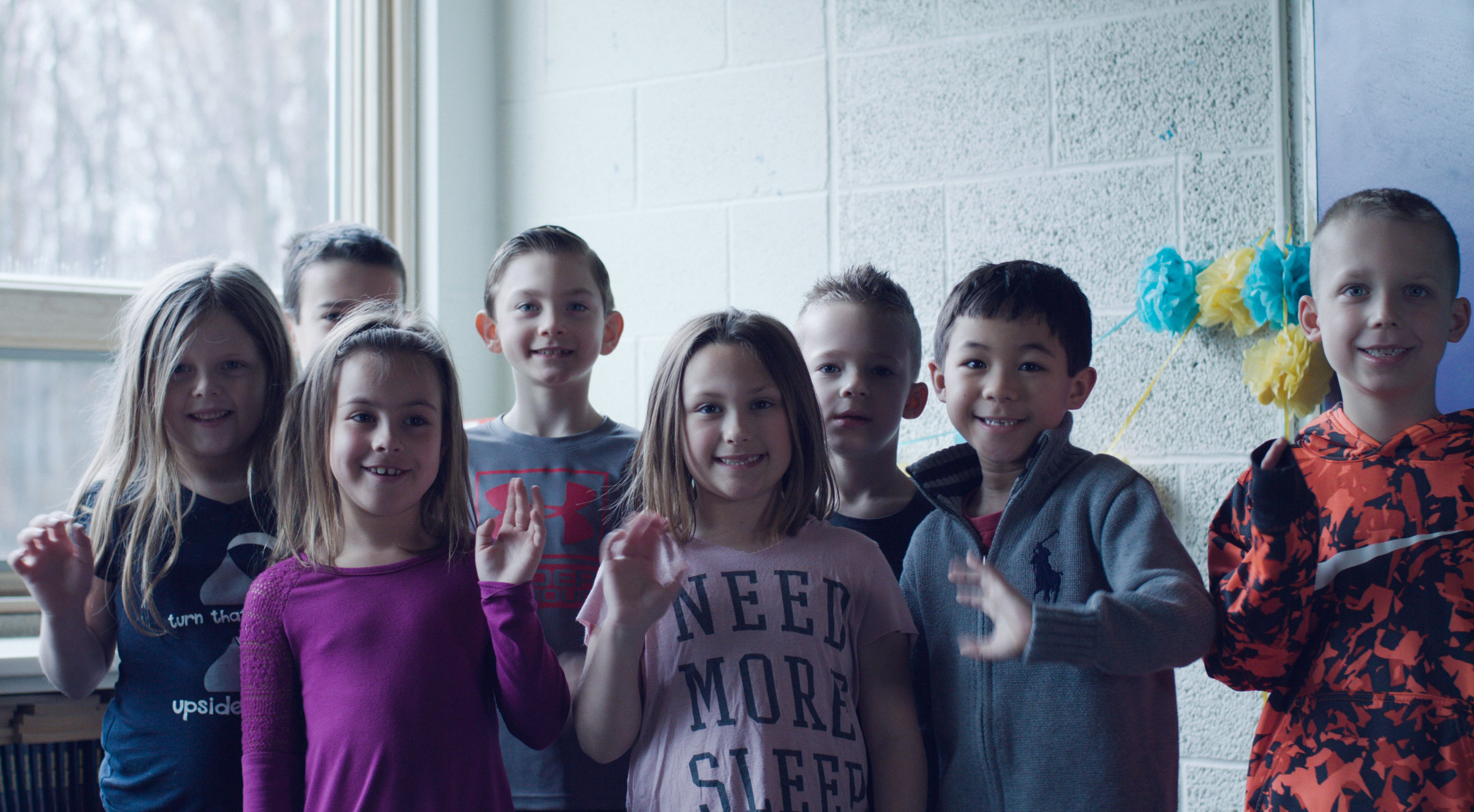 First graders at CH Campbell Elementary in Canfield, Ohio