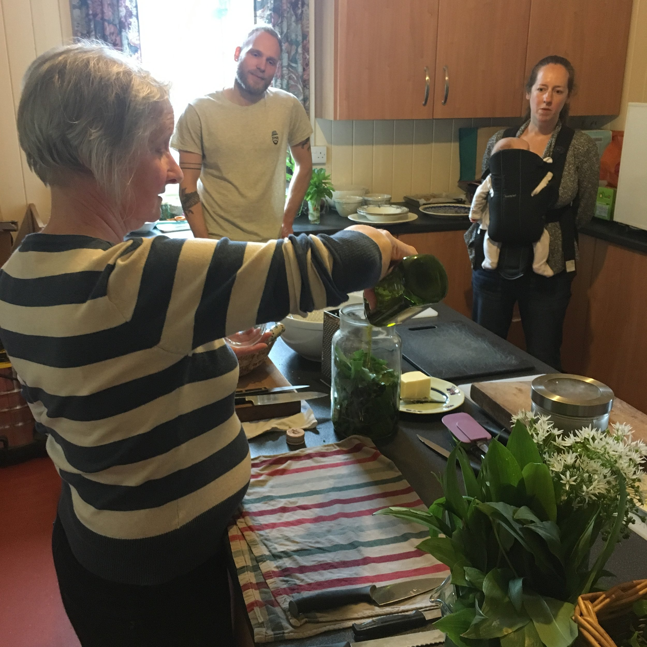 Gill Evans showing us how to transform our wild haul into delicious food.