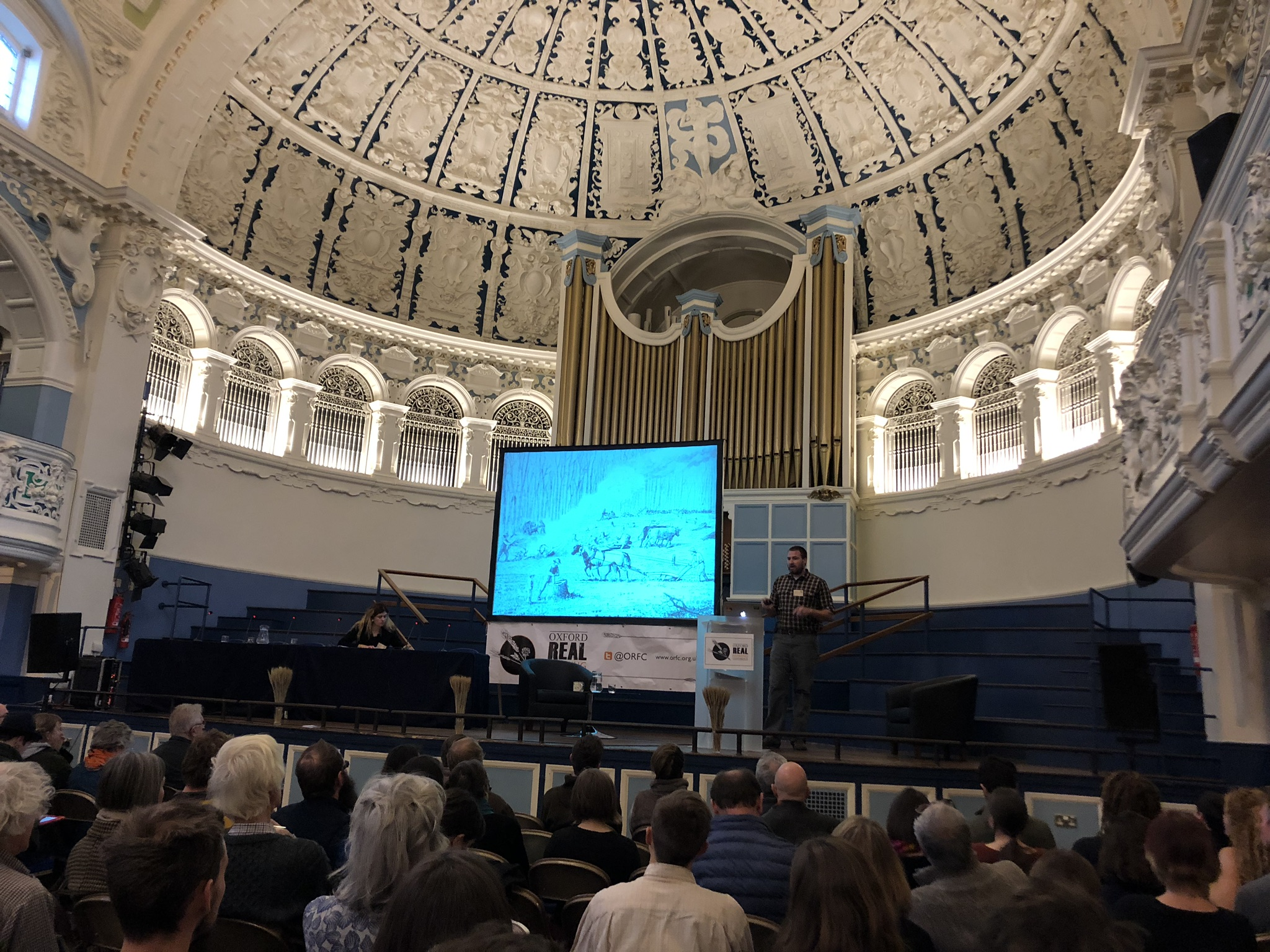 Watching a fascinating presentation on silvopasture at ORFC 2019