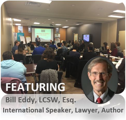 Bill Eddy - Bill is the training director and co-founder of High Conflict Institute. He is is a lawyer, therapist, mediator and he developed the