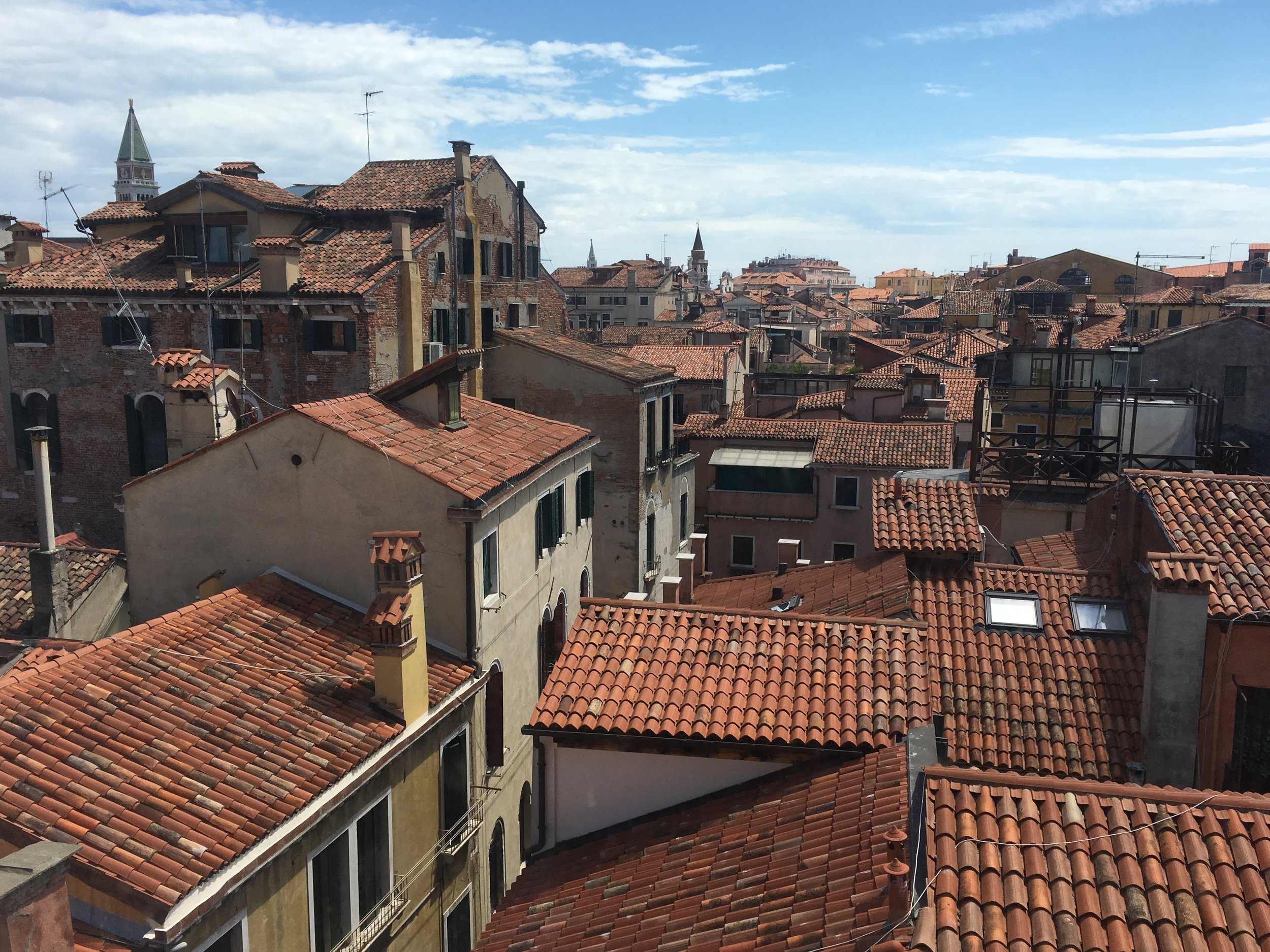 The rooftops of Venice as viewed from an ECA course excursion to Palazzo Fortuny