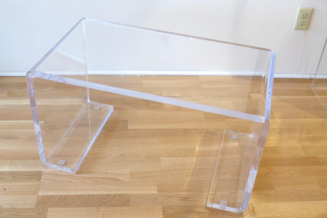 Decorum custom lucite curved leg bench.jpeg
