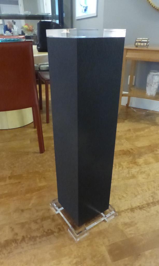 Decorum custom lucite Shagreen pedestal Grey, cream, black.jpeg