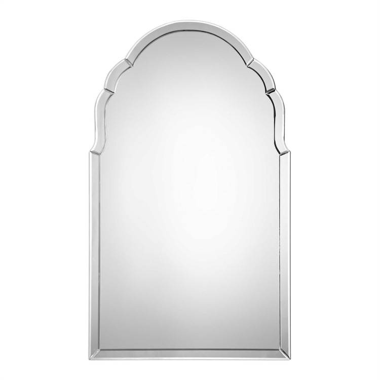 "Elegant frameless arch mirror 24"" by 40.jpeg"
