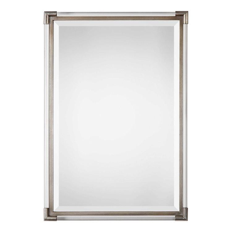 "Silver leaf with acrylic rod frame mirror 23"" by 33.jpeg"