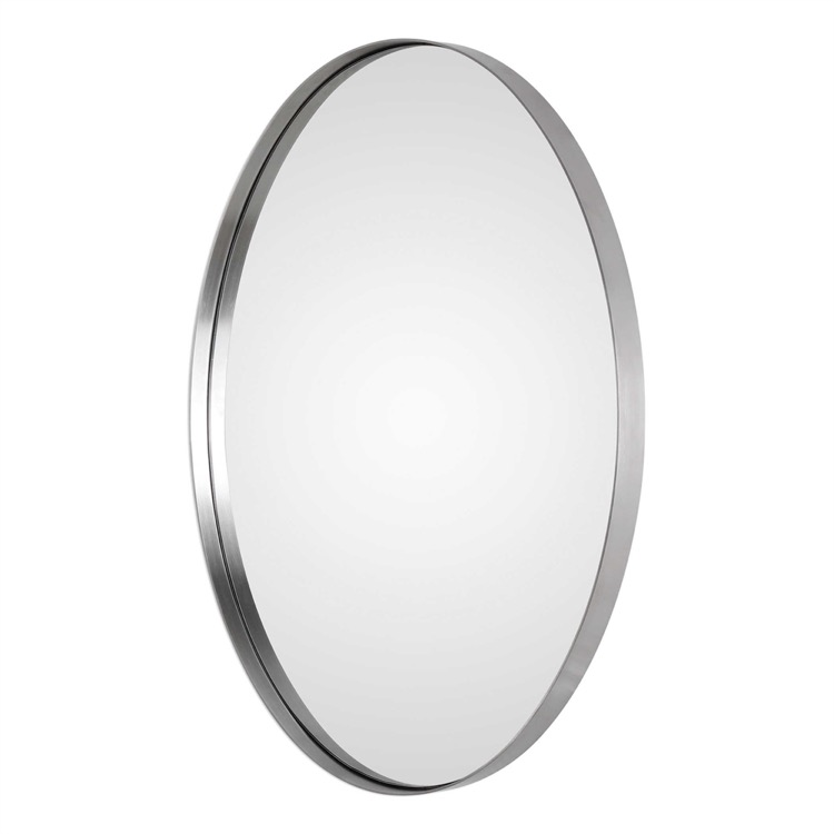 "Small brushed nickel oval mirror 20"" by 30.jpeg"