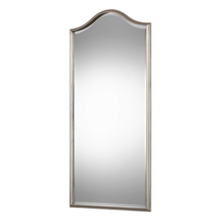 "Wood frame finished in metallic silver   bevelled mirror 25"" by 55.jpeg"