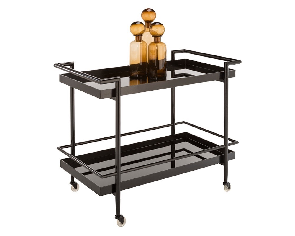 Contemporary black barcart 36 by 20 by 30H $795.jpg