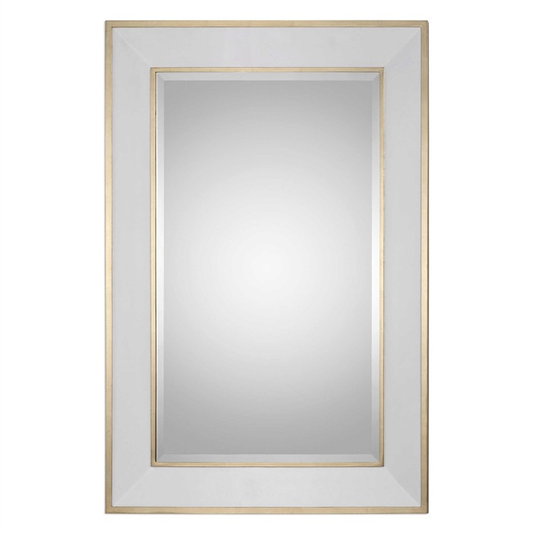 "Elegant White & Gold Frame Mirror 42"" X 62.jpeg"