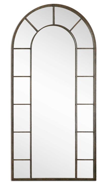 "Petite Oxidized Nickel Bevelled Mirror 23"" X 25 (2).jpeg"