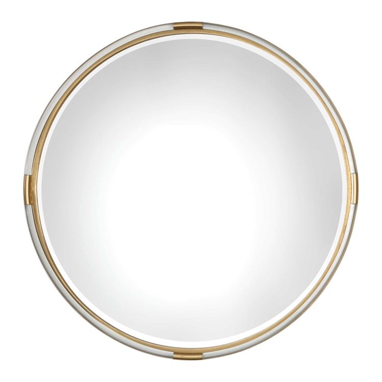 "Round Gold Leaf & Acrylic Band Mirror 38""D.jpeg"