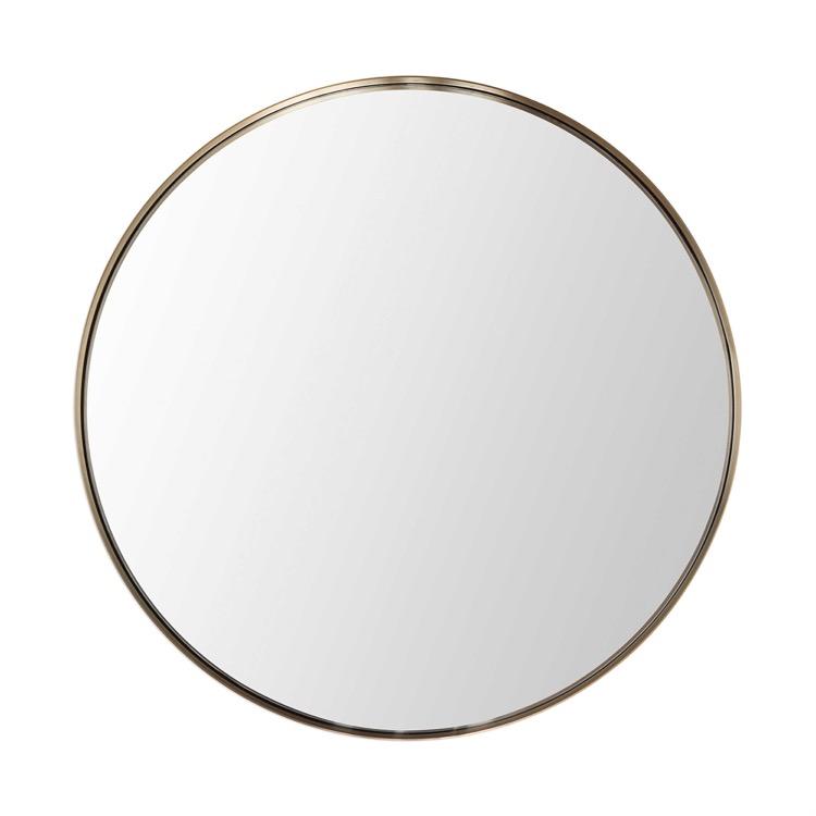 """Round Pale Gold Frame Mirror 40""""D.jpeg"""