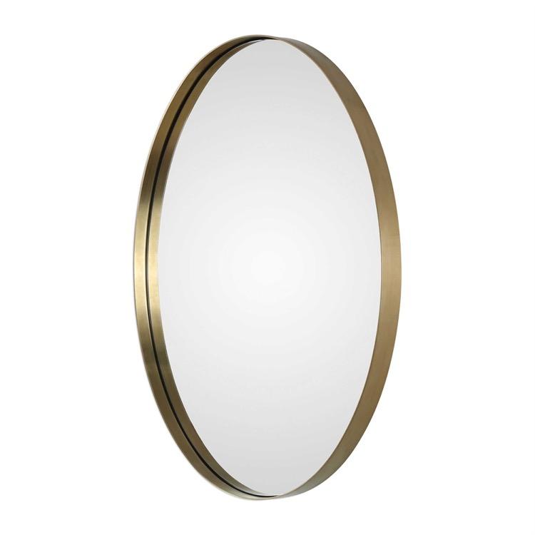 "Small Brushed Brass Oval Mirror 20"" X 30.jpeg"