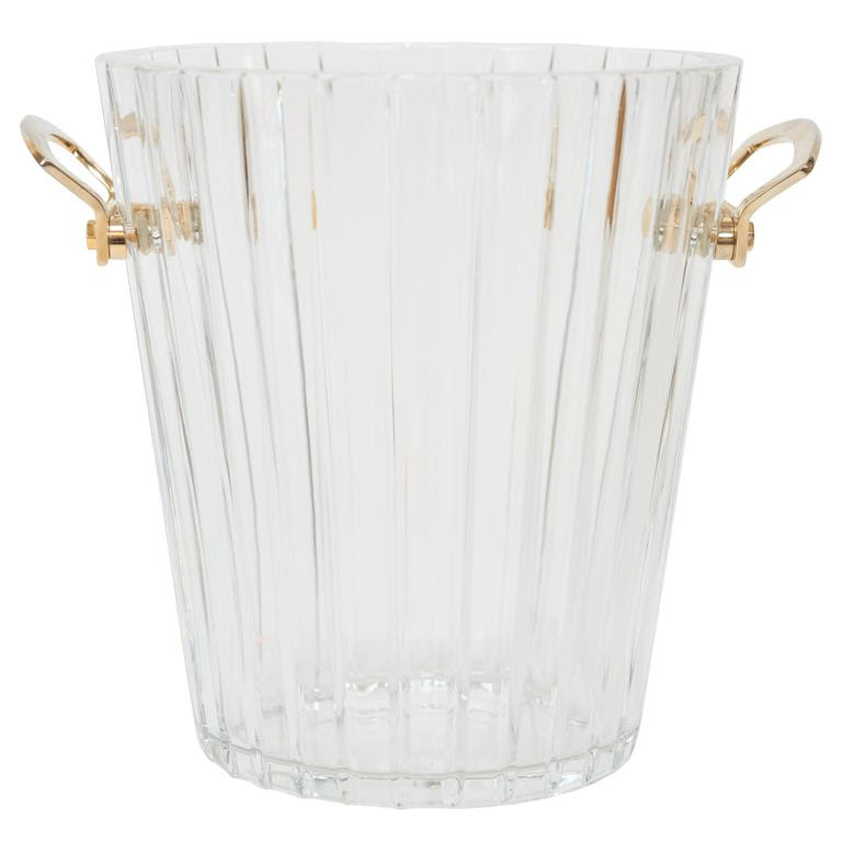 Baccarat Crystal Champagne Bucket with Gold Handles.jpg