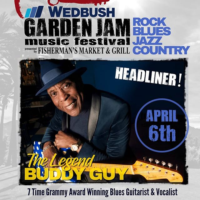 TODAY! It's night 2 of the Wedbush Securities Garden Jam Music Festival at the beautiful Indian Wells Tennis Garden! Gates open at 4:30pm with music on our second stage, gourmet food and drink options from Fisherman's Market & Grill, art, games,  fashion, lifestyle vendors and more! Contemporary jazz and funk sensation Brian Culbertson Official will get the crowd going at 6:30 on our main stage, followed by blues guitar great Jimmie Vaughan and the legend himself, Mr. Buddy Guy!  Limited table seats and general admission grounds passes are available at www.gardenjammusicfestival.com or at the Tennis Garden box office! Grab them while they last! . . . . #lukasnelsonandpromiseofthereal #lukasnelson #luciesilvas #buddyguy #jimmievaughan #loslobos #brianculbertson #tobylee #musicfestival #musicmonth #coachella #rocknroll #country #bluesfestival #indianwells #gardenjam #gardenjammusicfestival #indianwellstennisgarden #indianwells #smoothjazz #neilyoung #willienelson #luckreunion