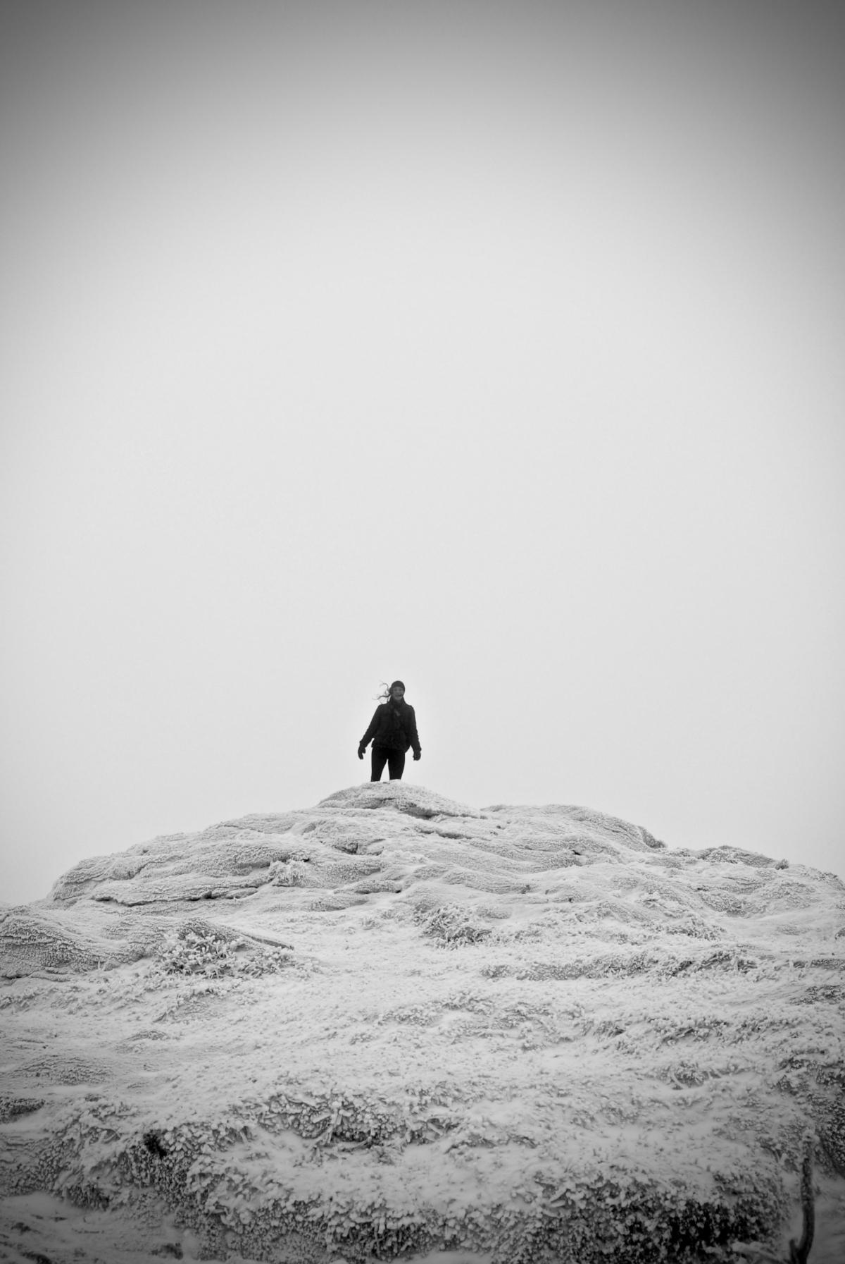 Sara on the summit