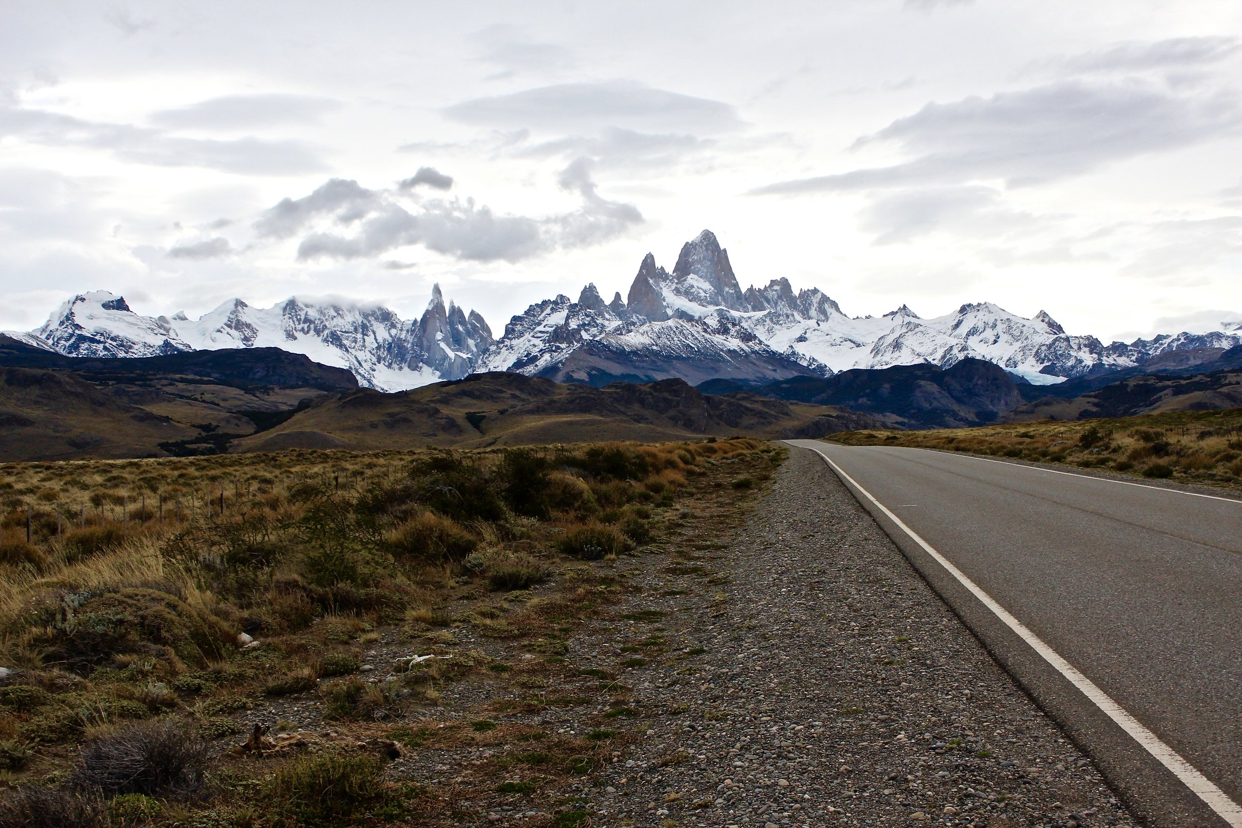Nearly 360 degree panoramic mountain views from the drive to El Calafate to El Chaltén. But only if it's clear!