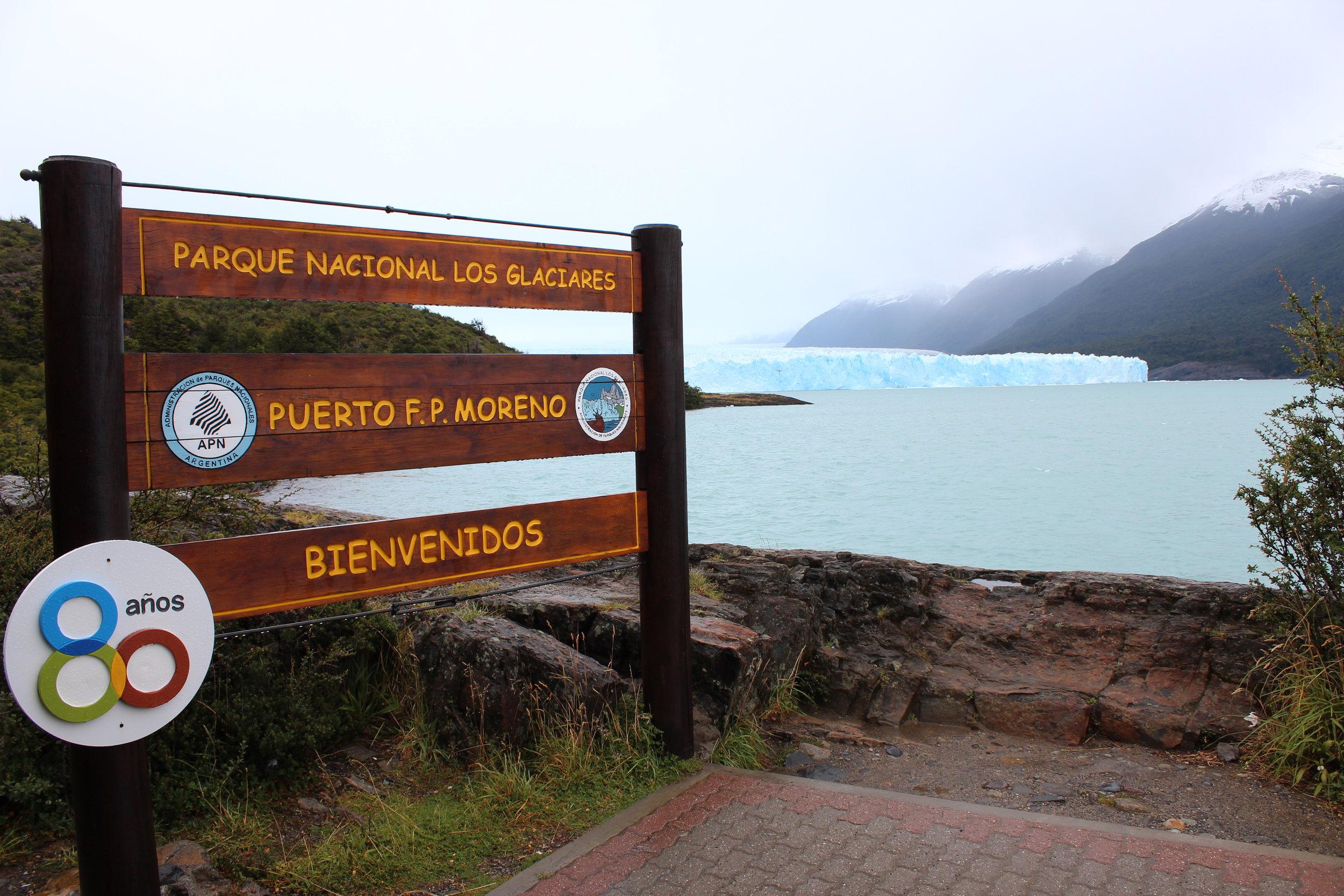 Perito Moreno Glacier is located in Los Glaciares National Park