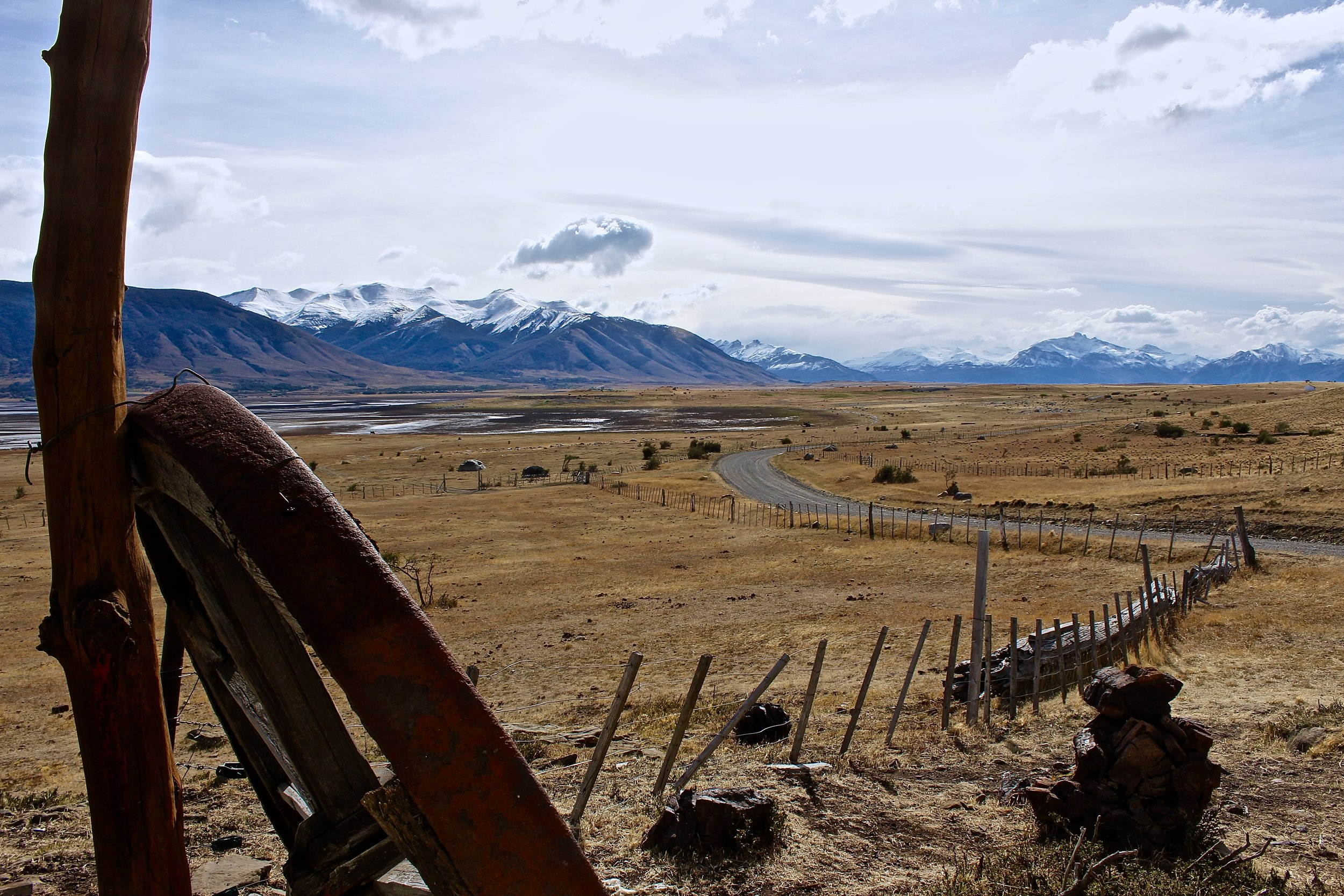 The ranch,  Rio Mitre , was nestled in the mountains, in such a serene setting. About an hour's drive from Calafate.
