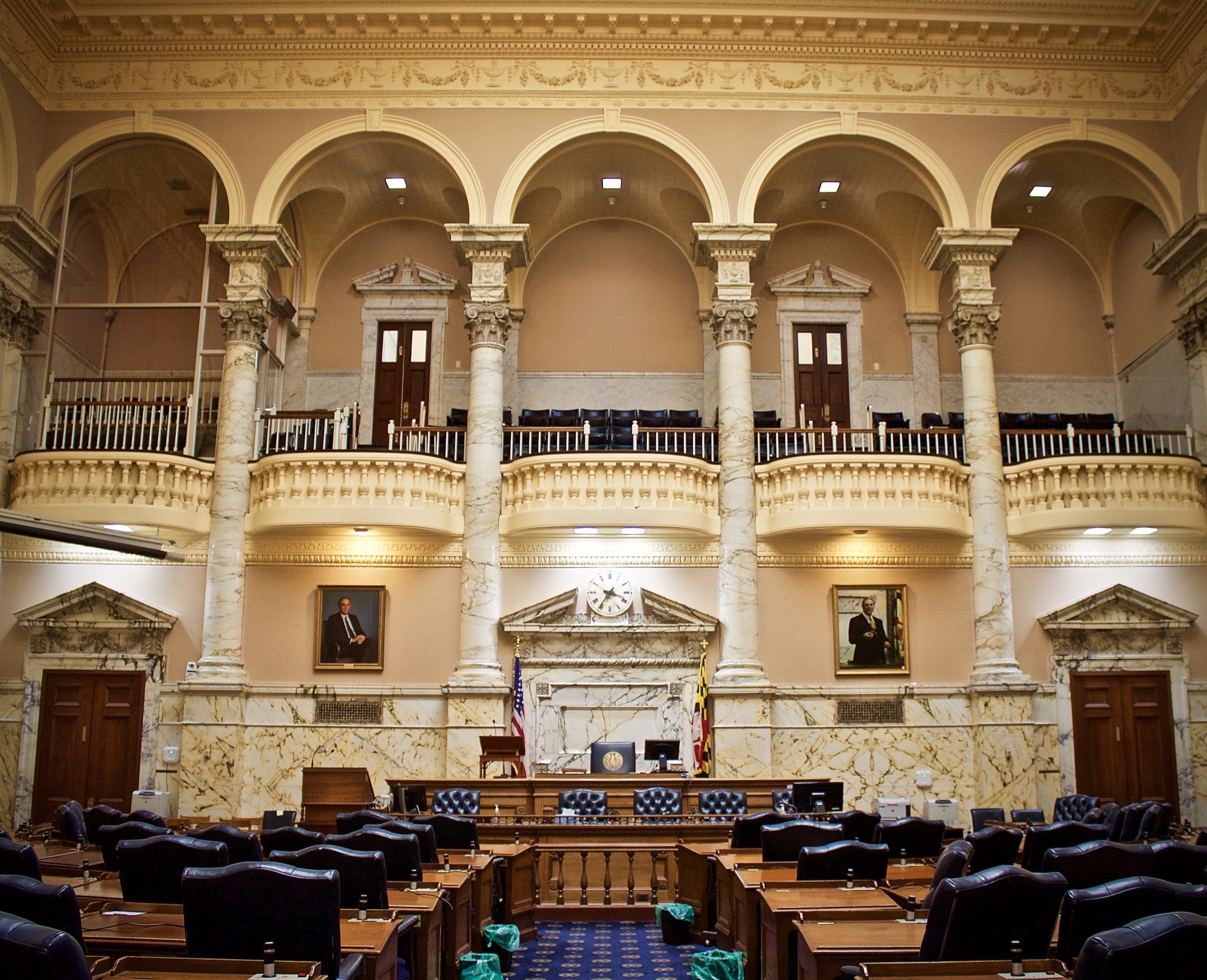 The Maryland State House is free and open to the public - though some rooms will be blocked off if in use